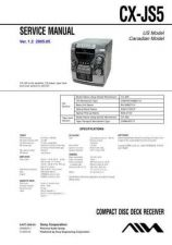 Buy Sony CX-JS5 Service Manual by download Mauritron #231811