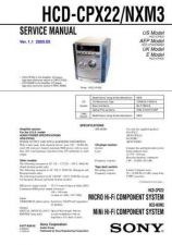 Buy Sony HCD-CPX22-NXM3 Service Manual by download Mauritron #232016