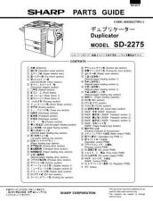 Buy Sharp SD2275 PG GB Service Manual by download Mauritron #209568