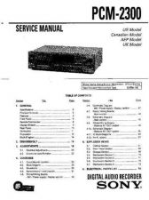 Buy Sony PCM-2000-2 Service Manual. by download Mauritron #243424