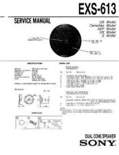 Buy Sony EXS-613 Service Manual by download Mauritron #240671