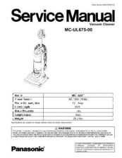 Buy Panasonic mcv5451 sm Service Manual by download Mauritron #267667