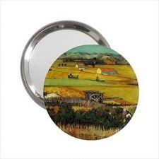 Buy The Harvest Vincent Van Gogh Round Handbag Purse Mini Mirror