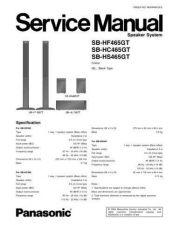 Buy Panasonic SB-HF465GT SB-HS465GT SB-HC465GT by download Mauritron #268759