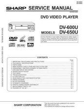 Buy Sharp DV600U Service Manual by download Mauritron #208771