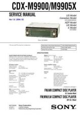 Buy Sony CDX-M9900-M9905X Service Manual by download Mauritron #231729