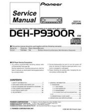 Buy Pioneer DEH-P930-3 Service Manual by download Mauritron #233856