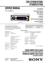 Buy Sony CDX-GT50WGT500GT500EEGT550 Service Manual by download Mauritron #238586