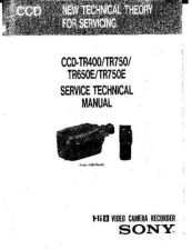 Buy Sony CCD- Service Manual by download Mauritron #237052