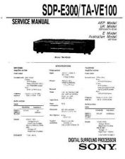 Buy Sony SDP-EP9ES Technical Manual. by download Mauritron #243853