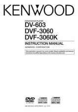Buy Kenwood DV-603 Operating Guide by download Mauritron #221167