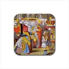Buy Queen Of Hearts Color Set Of 4 Square Rubber Coasters Alice In Wonderland