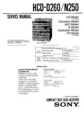 Buy Sony HCD-D260.N250 Service Manual by download Mauritron #240934