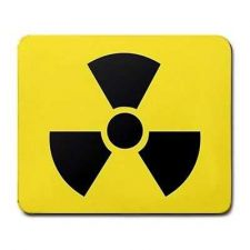 Buy Radioactive Symbol Yellow Black Computer Mouse Pad