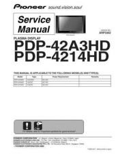 Buy Pioneer PDP-42A3HD-5 Service Manual by download Mauritron #234847