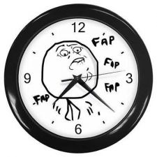 Buy Fap Guy Wall Clock Rage Face Toon Comic Meme Art Bar Decor