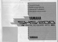 Buy Yamaha SHS200F Operating Guide by download Mauritron #249912