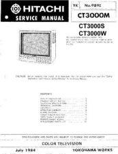 Buy Hitachi CT1397B-1 Service Manual by download Mauritron #261262