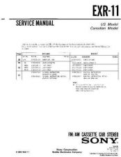 Buy Sony EXR-11 Service Manual by download Mauritron #240647