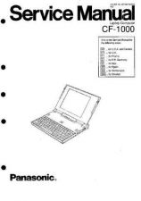 Buy Panasonic CF-1000 Notebook Service Manual by download Mauritron #232410