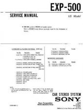 Buy Sony exp-500 Service Manual by download Mauritron #240643