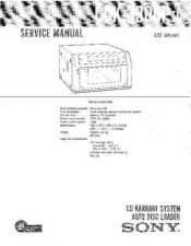 Buy Sony CDK-3600 Service Manual by download Mauritron #237197