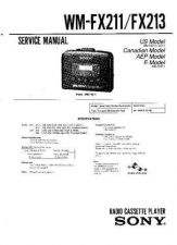 Buy Sony WM-FX211-FX213 Service Manual by download Mauritron #233450