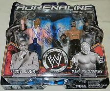 Buy Adrenaline Series 13 Theodore Long Rey Mysterio wrestling figure autograph wwe