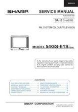 Buy Sharp 54GS61SC (1) Service Manual by download Mauritron #207848