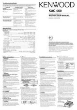 Buy Kenwood KAC-PS500F Operating Guide by download Mauritron #221386