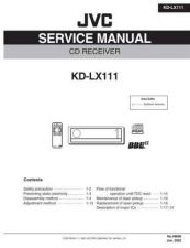 Buy JVC KD-LX111 Service Manual Schematic Circuit. by download Mauritron #271472