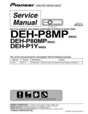 Buy Pioneer DEH-P8MP-1 Technical Manual by download Mauritron #232570