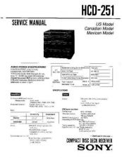 Buy Sony HCD-251 Service Manual by download Mauritron #240859