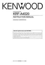 Buy Kenwood KRF-V4070D Operating Guide by download Mauritron #219445