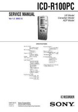 Buy Sony ICD-R100PC Service Manual. by download Mauritron #241485