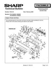Buy SHARP FAX202 TECHNICAL BULLETIN by download #104372