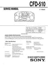 Buy Sony CFD-515 Service Manual by download Mauritron #238723