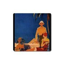 Buy Egypt Tourist Couple Retro Travel Art Vinyl Magnet