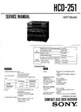 Buy Sony HCD-251-2 Service Manual by download Mauritron #232009