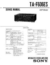 Buy Sony TA-F606ES-2 Service Manual. by download Mauritron #245283