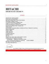 Buy Hitachi 27CX01B Service Manual by download Mauritron #223969