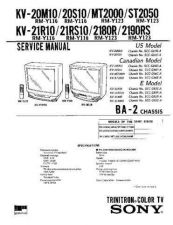 Buy Sony KV-20FS12 Service Manual. by download Mauritron #242203