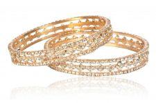 Buy Gold tone cz crystal bangle bracelet k1 sz 2.8