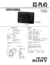 Buy Sony XS-PL45 Service Manual. by download Mauritron #246419