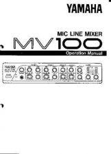 Buy Yamaha MV100 EN Operating Guide by download Mauritron #248876
