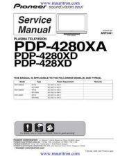 Buy Pioneer PDP-4280XD-WYVIXK5 Service Manual by download Mauritron #234824