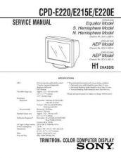 Buy SONY E100E Service Schematics Service Information by download #113567