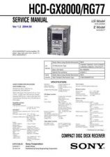Buy Sony HCD-RG551 Manual by download Mauritron #229254