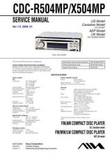 Buy Sony CDC-R504MP-X504MP Service Manual by download Mauritron #231655
