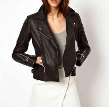 Buy Soft Women Lambskin Genuine Leather Jackets Designer Female Biker Bomber L871